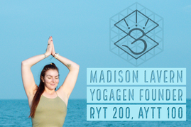 yogagen founder Madison Lavern